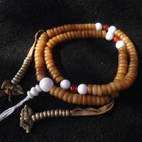 BRO916 Tibetan 108 Beads Yak Bone Rosary 10 5mm Agate Conch Shell Prayer Beads Malas Low