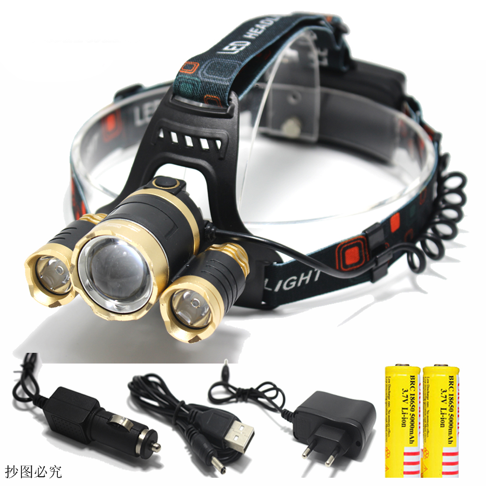 35000 LM T6 Red COB LED Headlight Zoom Flashlight Torch 18650 Charger WT