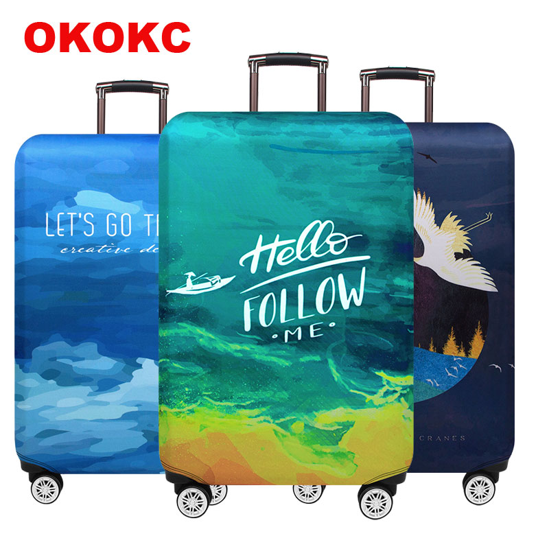 Stretch Fabric Luggage Protective Cover Suit 18-32 Inch Trolley Suitcase Case Covers Travel Accessories