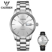 CADISEN Watch Men NH36A Mechanical movement Set Automatic Self wind Stainless Steel Sapphire 5ATM Waterproof Business Men Wrist