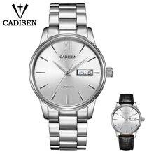 Cadisen男性NH36A機械式ムーブメントセット自動自己風ステンレス鋼サファイア 5ATM防水ビジネスメンズ腕時計