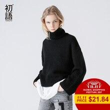 Toyouth Outono Inverno Mulheres Sweater 2017 Moda Soltas de Algodão Quente Femme Roupas Casuais Roupas de Gola Alta Manga Longa