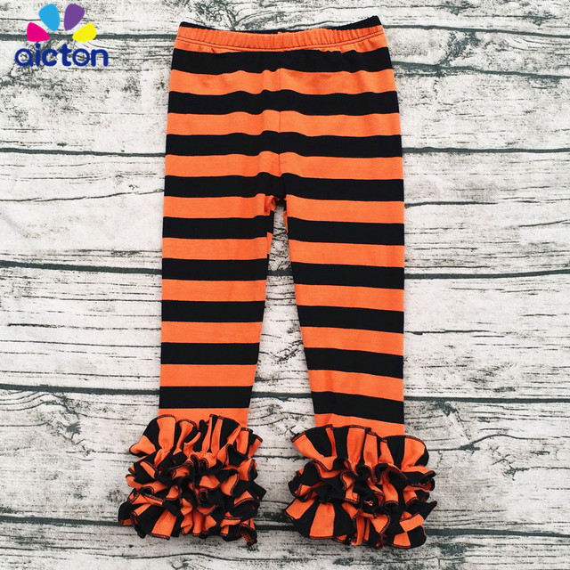 wholesale Halloween Baby Orange and black Leggings Children Bella ...