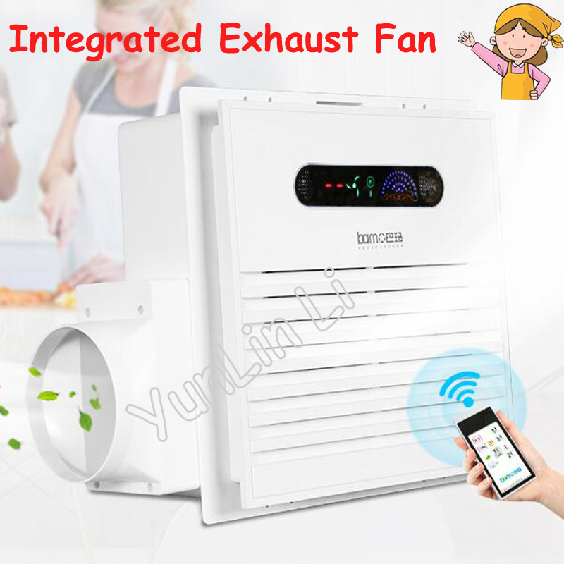 Integrated Exhaust Fan Intelligent Remote Control Strong Suction Low Noise Kitchen And Bathroom Air Exchange Bm3030h In Fans From Home