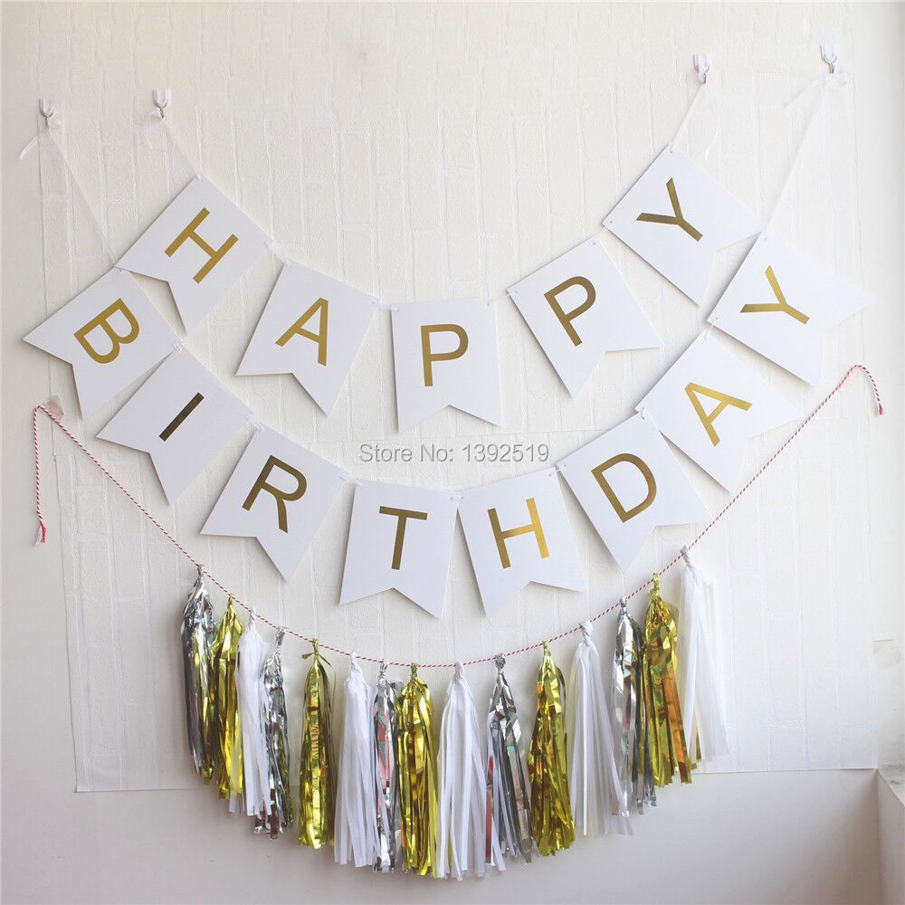 Pastel Hanging Letters Party Garland Confetti ba Happy Birthday Bunting Banner