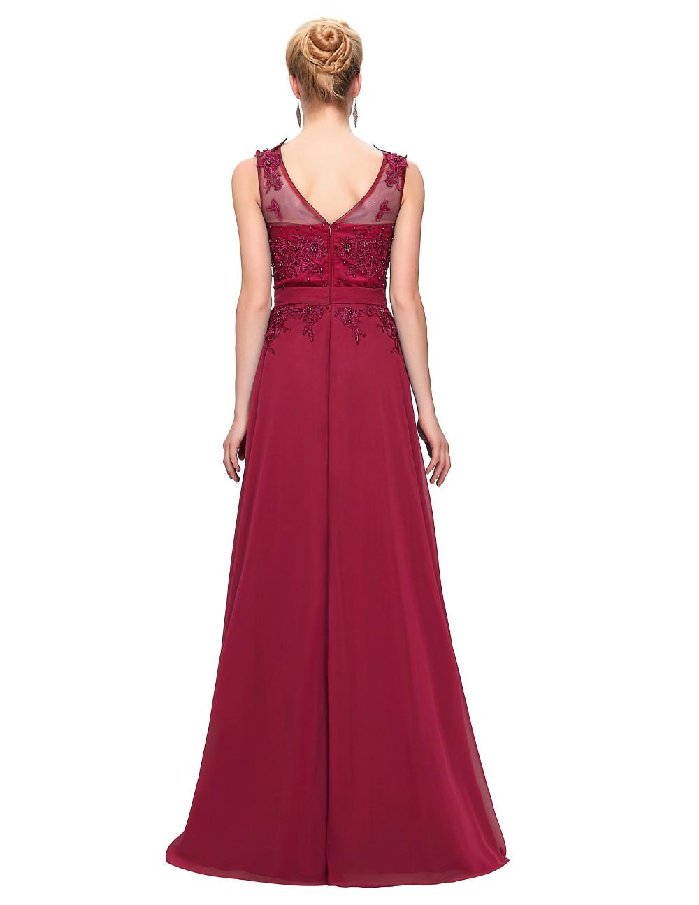 Grace Karin Elegant Long Evening Dresses 2016 Chiffon Pink Purple Red Royal Blue Black Formal Evening Dress Gown Abendkleider 55