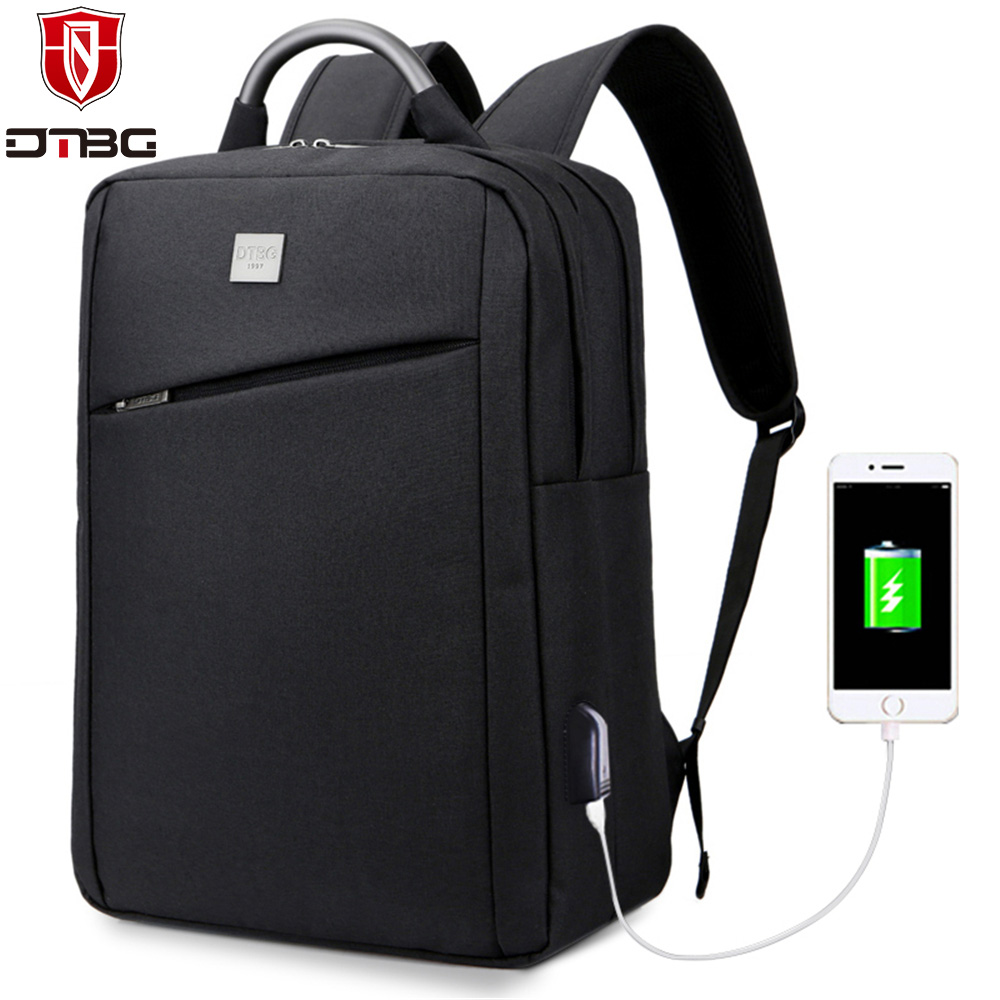 2018 DTBG Backpack with EXternal USB Port Laptop Bag for Men Women 15 15.6 inch Notebook Backpacks for Macbook Pro acer HP Dell