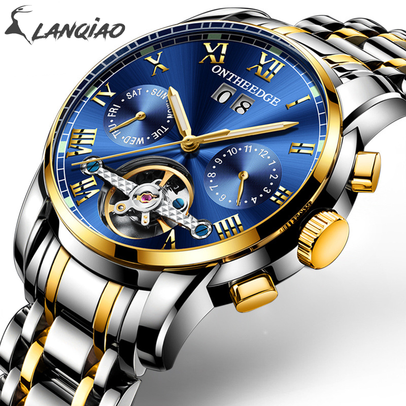 Stainless Steel Mechanical Hand Wind Multi-functional Water Resistant Noctilucence Anti-wear Mirror Round Men Wristwatched 2019Stainless Steel Mechanical Hand Wind Multi-functional Water Resistant Noctilucence Anti-wear Mirror Round Men Wristwatched 2019