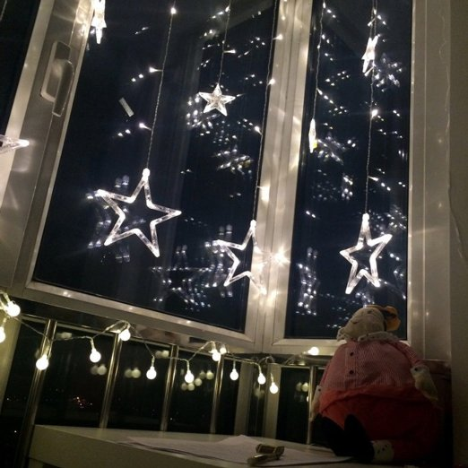 Stecker Für Weihnachtsbeleuchtung.Us 24 24 Us Stecker Weihnachtsbeleuchtung Led Vorhang Licht Urlaub Licht Eiszapfen Beleuchtung Sterne Stil Mit 8 Modi Speichercontroller Dekoration