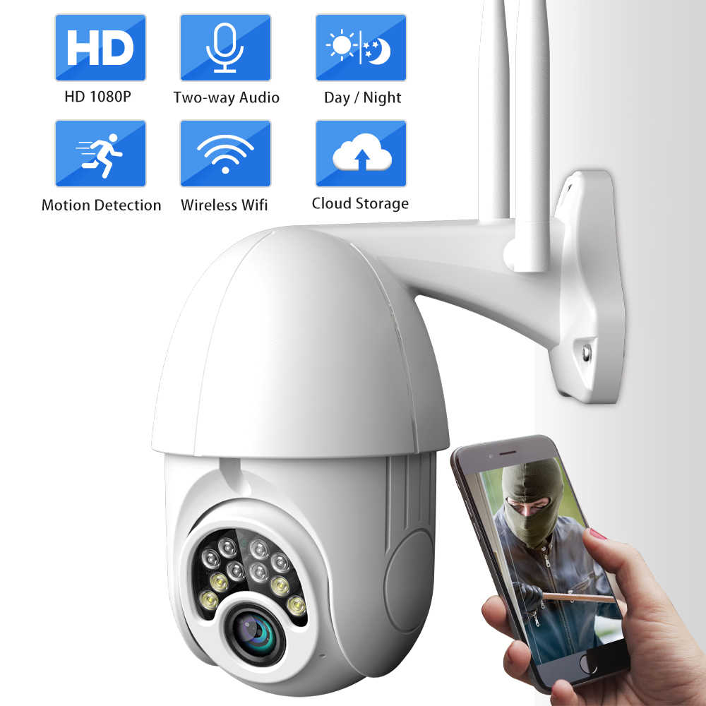 SDETER PTZ Camera An Ninh Ngoài Trời 1080P Tốc Độ Dome CAMERA QUAN SÁT IP Không Dây WIFI Tầm Nhìn Ban Đêm Âm Thanh P2P Camera Bên Ngoài đám mây