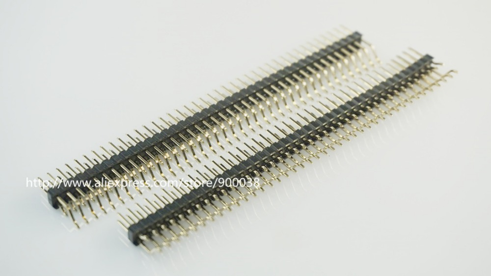 5 Pcs 2x40 P 80 Pin 2.0 Mm Pin Header Male SMT SMD Right Angle Dual Row Double Rows Surface Mount PCB Gold Plate Rohs Lead Free