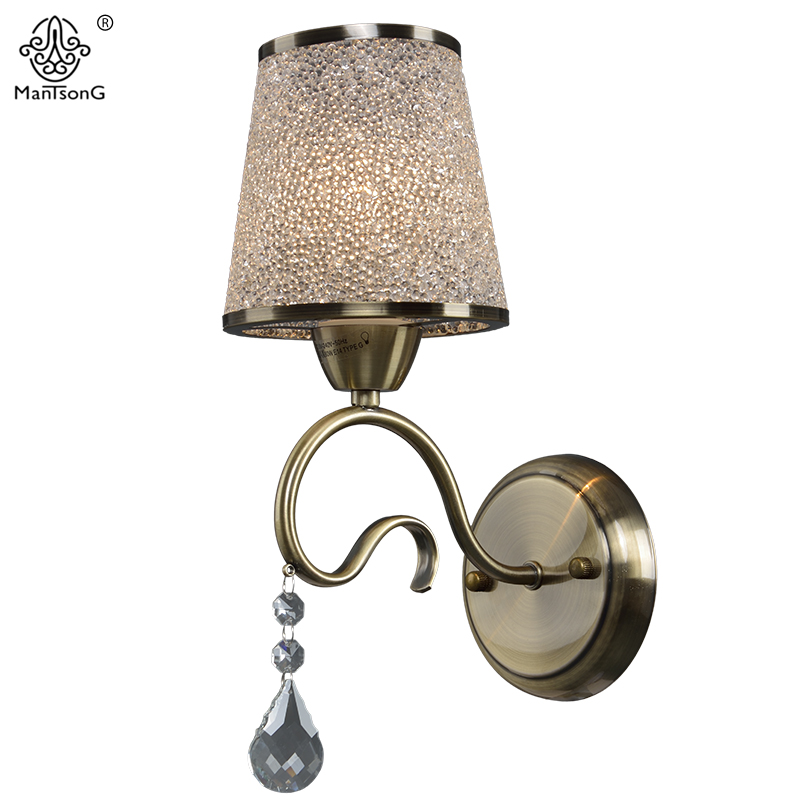 New Modern Crystal Wall Lamp Sconce for Living Room Bedroom Wall Light Frosted Glass Light for Bathroom Retro Lamp Home Lighting one light frosted glass antique rust hanging lantern