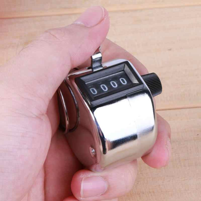4 Digit Nomor Hand Held Tally Counter Mini Mekanik Digital Hand Tally Counter Manual Menghitung Golf Clicker Pelatihan Gratis