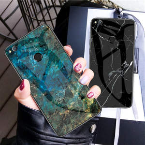 Back-Cover Marble Hard-Tempered-Glass P8-Lite Huawei Luxury Case For Protective Grain
