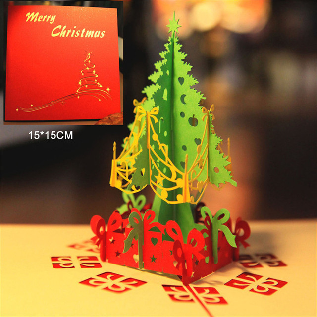 3d christmas greeting cards awesome creative stereo merry christmas 3d christmas greeting cards awesome creative stereo merry christmas hollow wish blessing thank you card for m4hsunfo