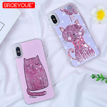 hot deal buy liquid glitter tpu case for iphone 7 plus se 5 5s 7 8 plus 6 6s x xr xs max cover for iphone xr xs max silicon soft cartoon case