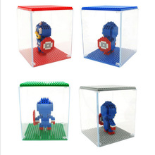 Hot Sale LOZ DIY display box for Minifigure block LOZ Diamond Bricks showing case ABS self locking bricks assemblage