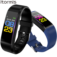 Smart Fitness Bracelet Watch Intelligent Blood Pressure Heart Rate Monitor Message Push Smart Band Tracker Wristband стоимость