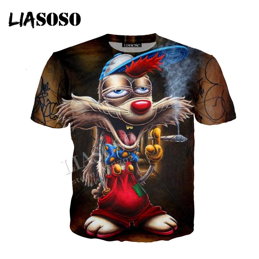 LIASOSO latest 3D print comfortable polyester sportswear funny humor cartoon mouse bad guy hip hop man woman zipper hoodie CX744