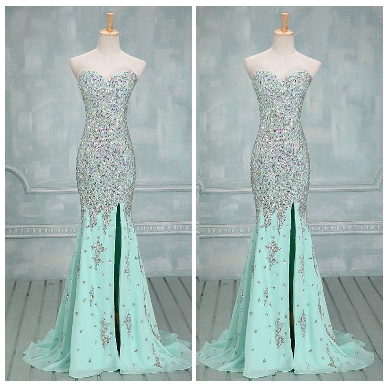Image result for HEAVY MINTY BLUE SEQUIN GOWN