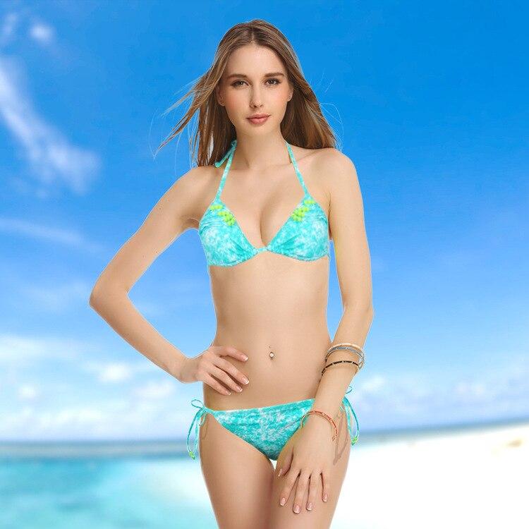 New Queen Vitoria Women Swimsuit Skyblue Beading DIY bathing Suit High Quality Swimwear sexy Luxury Bikini цены онлайн