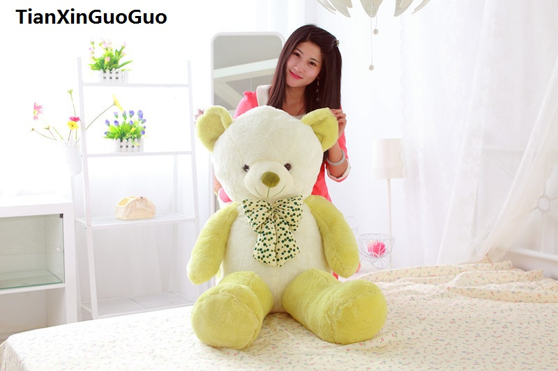 stuffed plush toy large 120cm green teddy bear soft plush toy soft bear doll throw pillow birthday gift s0394 цена и фото