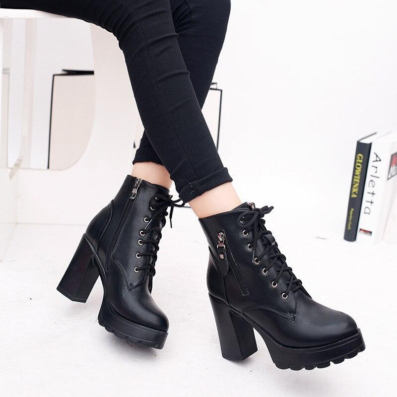 Men's Boots Men's Shoes Fashion Black Boots Men Heel Spring Autumn Zip Soft Leather Platform Shoes Brand Party Ankle Boots High Heels Red Outsole Shoes