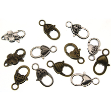 10pcs Antique Silver Bronze Lobster Clasp Hooks For Necklace Bracelet End Clasp Chain DIY Jewelry Accessory Findings 26*15MM