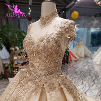 AIJINGYU 2018 luxury crystal sparkling diamond girl new hot selling gown formal bride dresses wedding dress WT214