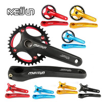 MEIJUN mountain bike, aluminum alloy screw, hollow integral single speed sprocket, 36T tooth disk, bicycle fittings crank