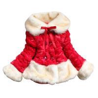 Dzieci Odzież 2017 Nowy Przyjeżdżający Zima Dziewczynka Faux Fur Coat ciepłe Pogrubienie Watowe Kurtka Dziewczyny Boże Narodzenie 2 3 5 6 7 lat