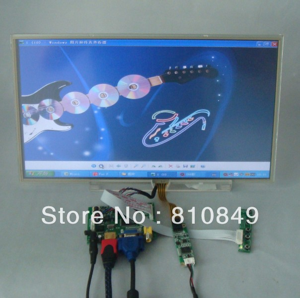 HDMI+VGA+2AV Driver board+15.6 1366*768 B156XW02 Lcd Panel with touch panel  LTN156AT17 LTN156AT02 LP156WH2 LP156WH4 BT156GW02 vga 2av revering driver board 8inch 800 600 lcd panel ej080na 05b at080tn52