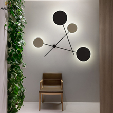 Modern LED Black Wall Lamps Simple Bedroom Bedside Lamp Deco Wall Lights Luminaire Indoor Wall Lighting Bar Cafe Fixtures недорого