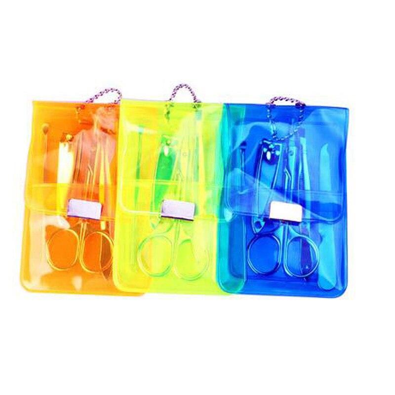 Купить с кэшбэком Portable 4 pcs/Set Nail Art Tools Set Nail Cutter Polish Clipper Kit with Scissor Tweezer Knife Ear pick File Manicure Care