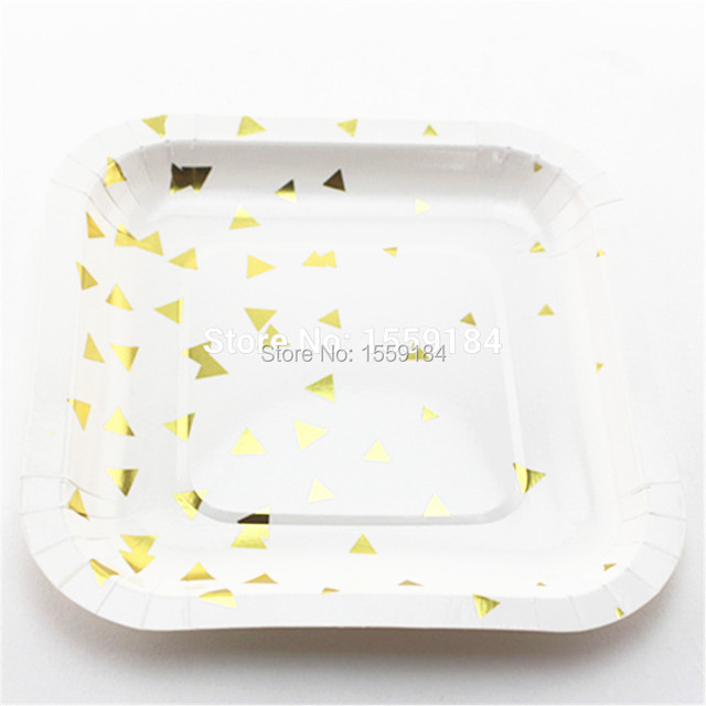 Free Shipping 48pcs Birthday Party Wedding Dessert Plate 6\  (16cm) Foil Gold Square  sc 1 st  AliExpress.com & Aliexpress.com : Buy Free Shipping 48pcs Birthday Party Wedding ...