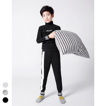 New Casual Boys Home wear,Teens Pajamas Clothing Set Fashion Pullover +Trouser, fast-street Brand for Kids Height 110-160 cm
