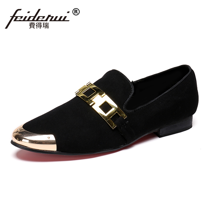 58e27f91b Plus Size Black Round Toe Man Prom Height Increasing Moccasin Loafers Cow  Suede Leather Wedding Party Men's Casual Shoes SL180