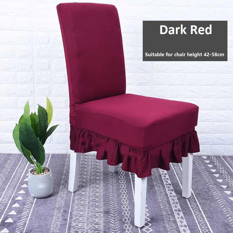 Solid Plain Color House Dining Chair Covers Spadex Office Desk Chair Covers Stretch Elastic Conference Chair Covers