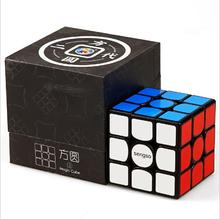 Shengshou Fangyuan 3x3 Magnetic Speed Cube Smooth Twist 3x3x3 Magic Cube Black Second Generation Puzzle Toys for Children lefun shengshou 10layer cube puzzle speed cube 10 2cm pvc stickers ten layers black educational toys for children kids