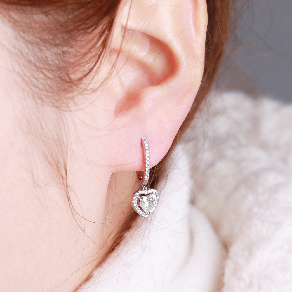 white universe stud diamond center halo gold my earrings drop of