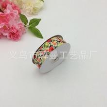 New Ribbon Webbing DIY Wide 2.5cm Digital Print Clothing Accessories Decorative Thread Pear Apple Cherry Series Fruit Sideband