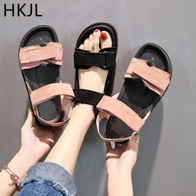 HKJL 2019 summer new womens shoes outdoor casual platform flat fashion comfortable soft soles non-slip sandals A009