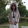 FF Brand Mink Fur Jacket Winter Women Mink Fur Hood Coat Jacket Womens Half Sleeve Faux Fur Coat Short Fake Fur Jacket Plus Size