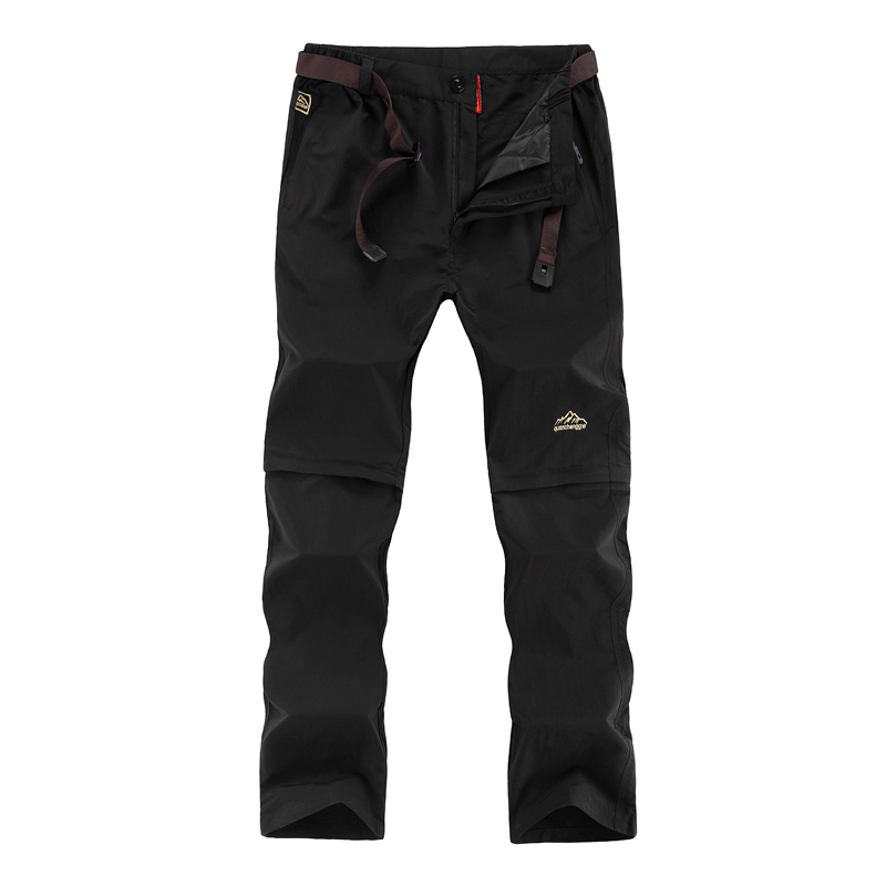 Befusy <font><b>6XL</b></font> <font><b>Men's</b></font> Summer Thin Quick Dry Pants Outdoor Male Removable Shorts Hiking Camping Trekking Fishing Sport Trousers BF909 image