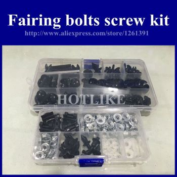 6Colors 1set motobike parts screw bolts kit for YamahaYZF R1 2007 2008 black fairing dag screws yzf r1 07 08 coupling bolt set