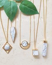 JShine Design Sweater Long Pendant Necklace Women Geometric Stone Gold Plated Bayan Kolye Charm Fashion Jewelry Necklaces