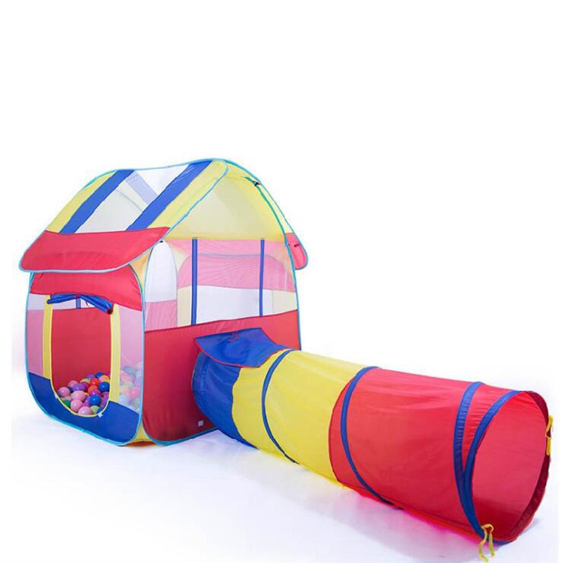 2 In 1 Kids Tent For Children Pipeline Crawling Huge Game Tunnel Ball Pool Play House Baby Ocean Ball Pool Outdoor Fun Toy Tents free shipping 3 in 1 kids tent pipeline crawling huge game play house baby play yard ball pool outdoor indoor baby playpen