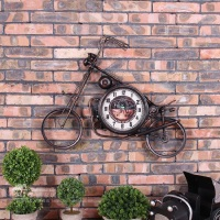 Large Wall Clock Saat Reloj Wall Clock Relogio de Parede Horloge Murale Reloj de Pared Motorcycle clocks wall decoration Klok