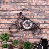 Large Wall   Clock   Saat Reloj Wall   Clock   Relogio de Parede Horloge Murale Reloj de Pared Motorcycle   clocks   wall decoration Klok