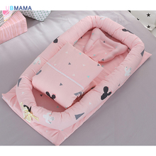 2018 portable and cotton quilt with Removable lightweight multi-colored baby cot Crib